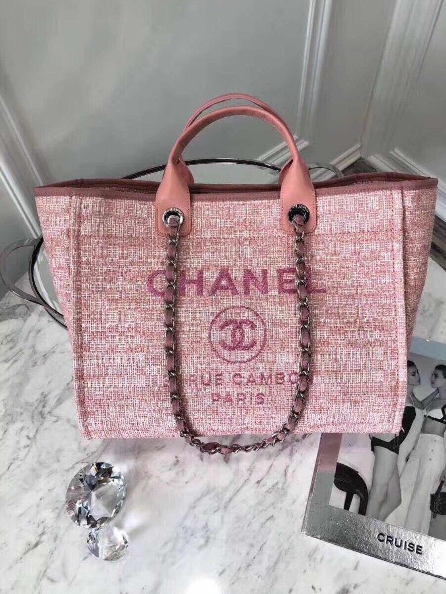 87cc6beb6 Bolsa Chanel Rue Cambon 31 Rosa Original - R$ 2.038,78 em Mercado Livre
