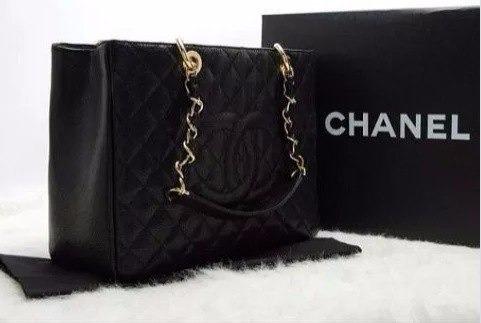 c2ce782a8 Bolsa Chanel Shopper Couro Gst 100% Original Encomenda - R$ 1.999,99 ...