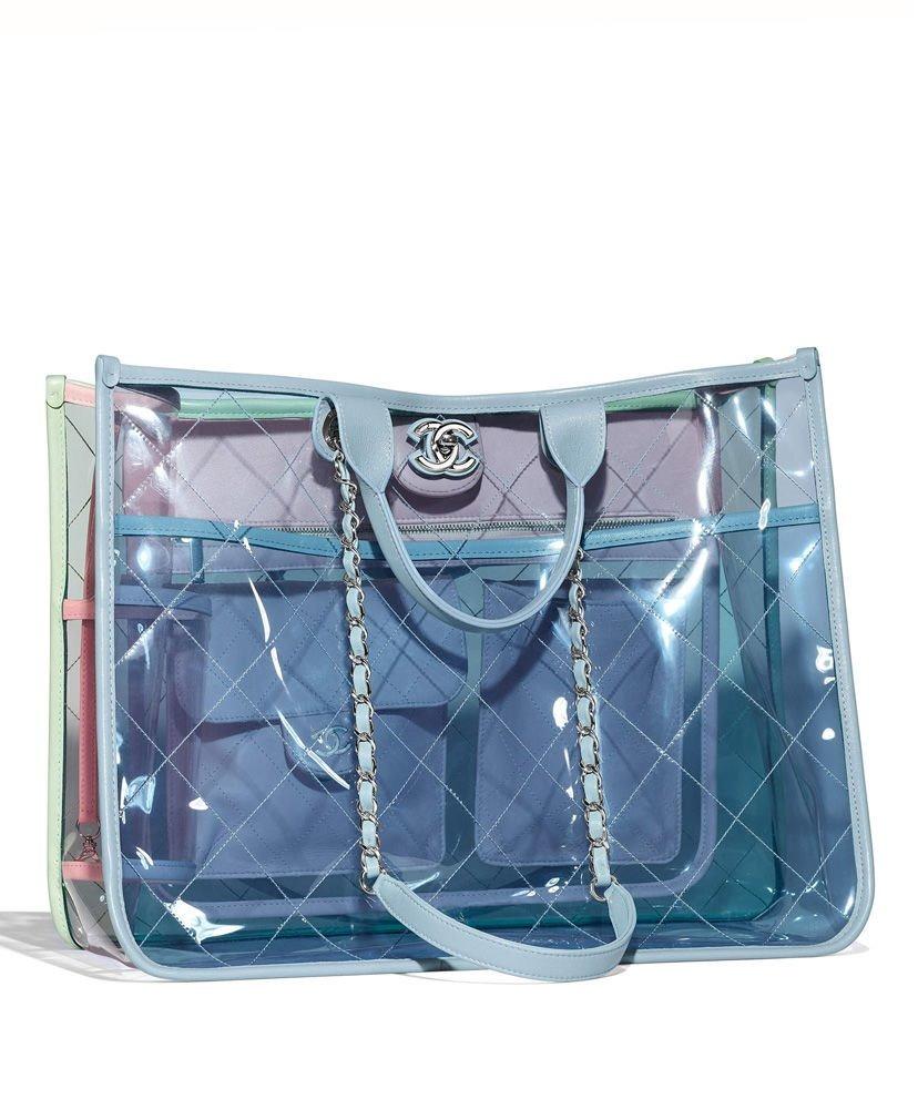 a989504c1 bolsa chanel tote bag a57411 pvc feminina - importada. Carregando zoom.