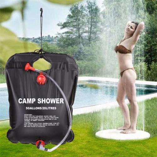 bolsa chuveiro camping ducha 20 litros portatil agua quente