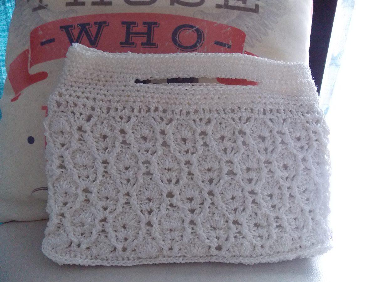 Bolsa De Mão Feita De Croche : Bolsa clucth feita em crochet croch? croche de m?o com