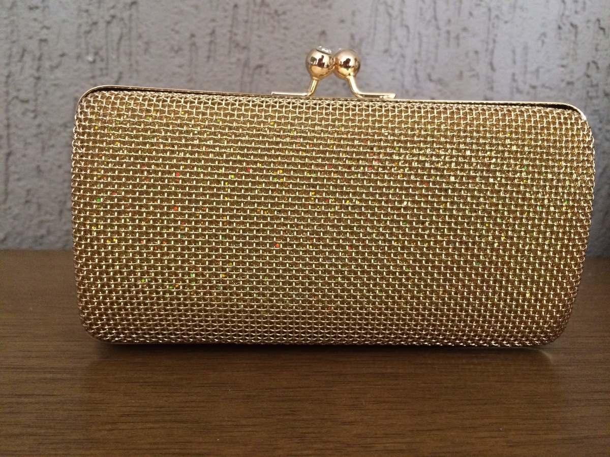 Bolsa De Festa Em Strass : Bolsa clutch dourada fecho de strass carteira feminina