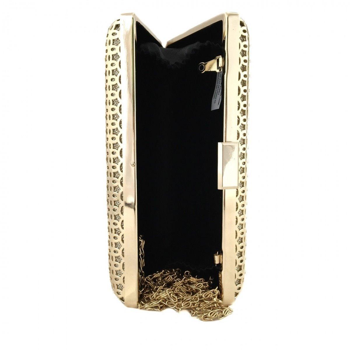 e82dcad659 bolsa clutch dourada metal luxo festa moderna. Carregando zoom.