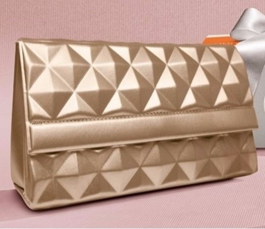 Bolsa De Mão Essencial Natura : Bolsa clutch dourada natura r em mercado livre