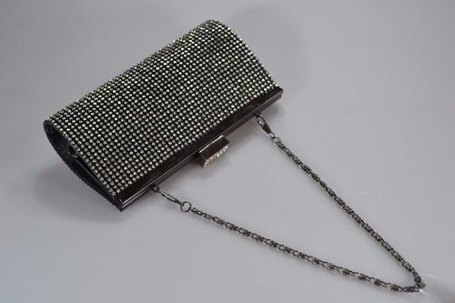 bolsa clutch feminina de festa strass preta promoção