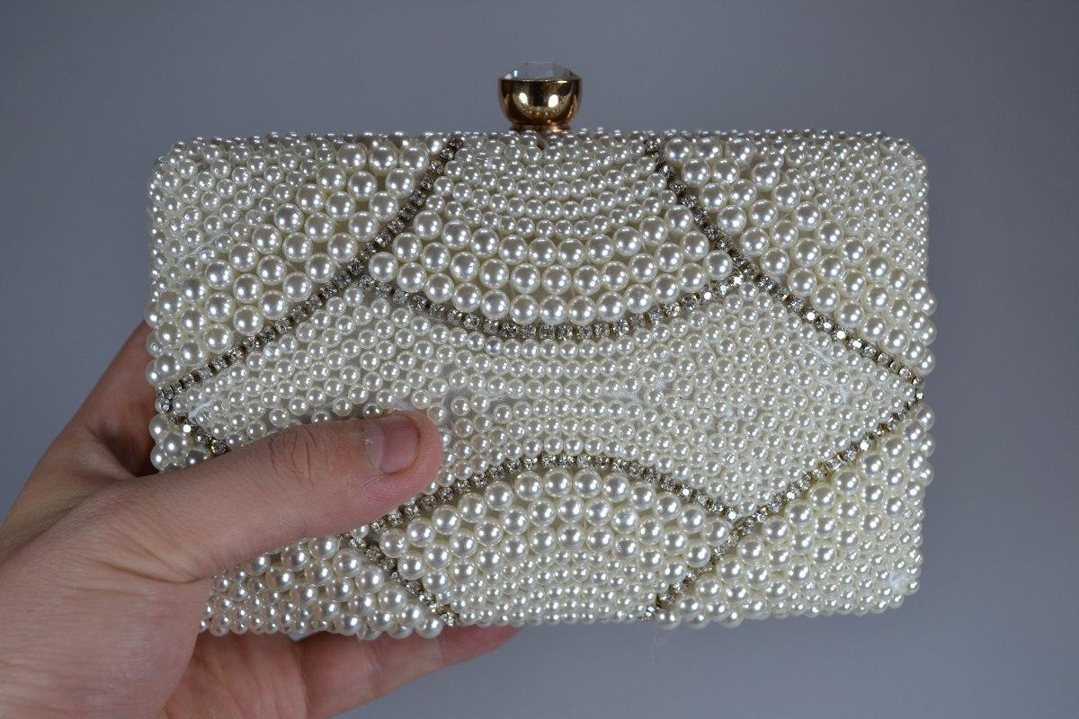 Bolsa De Strass Dourada : Bolsa clutch feminina dourada perola trabalha com strass