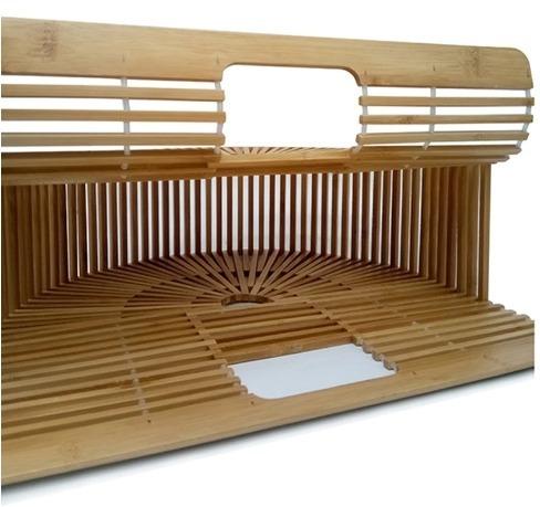 bolsa clutch gaia bamboo natural