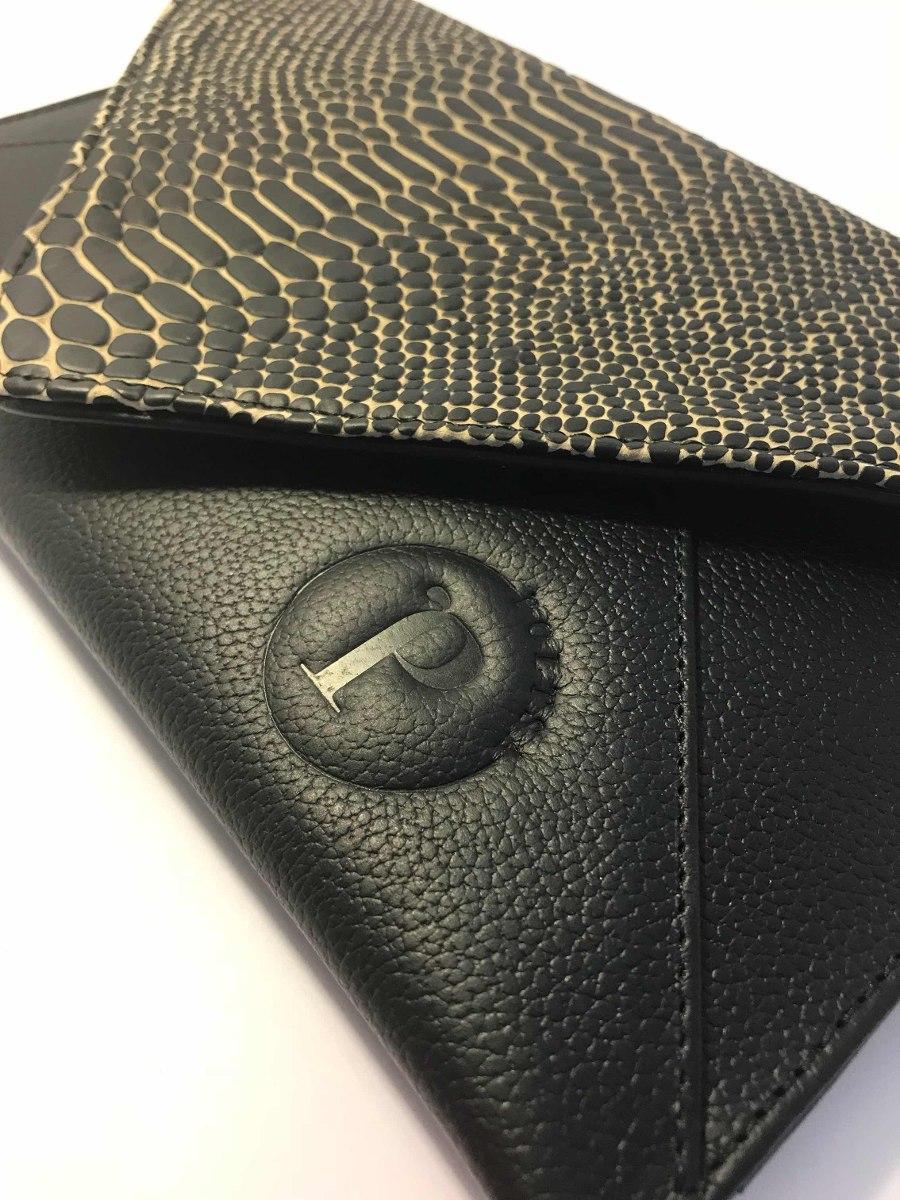 mejor selección a285f 6c413 Bolsa Clutch Negra Con Grabado De Víbora
