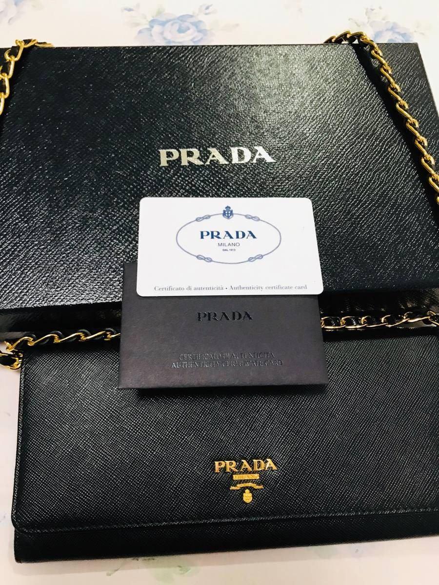 c2f74422e Bolsa Clutch Prada *original* Com Alça Dourada - R$ 3.300,00 em ...
