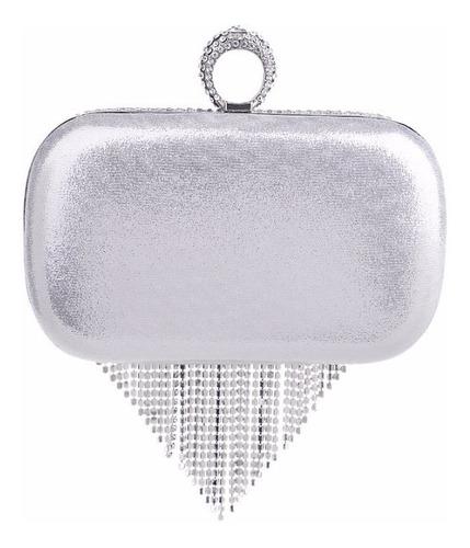 bolsa clutch prata strass festa balada carteira importada