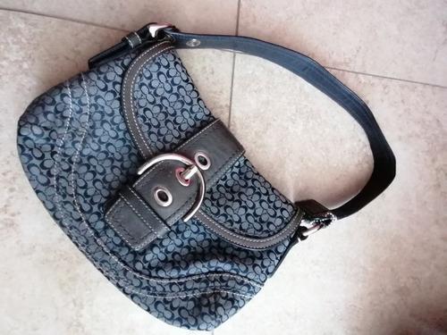 bolsa coach gris original usada, gucci, mk,