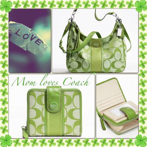 bolsa coach original verde limón