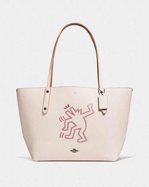 Haring Blanca Original Bolsa Tote Keith Coach xawOaUqY