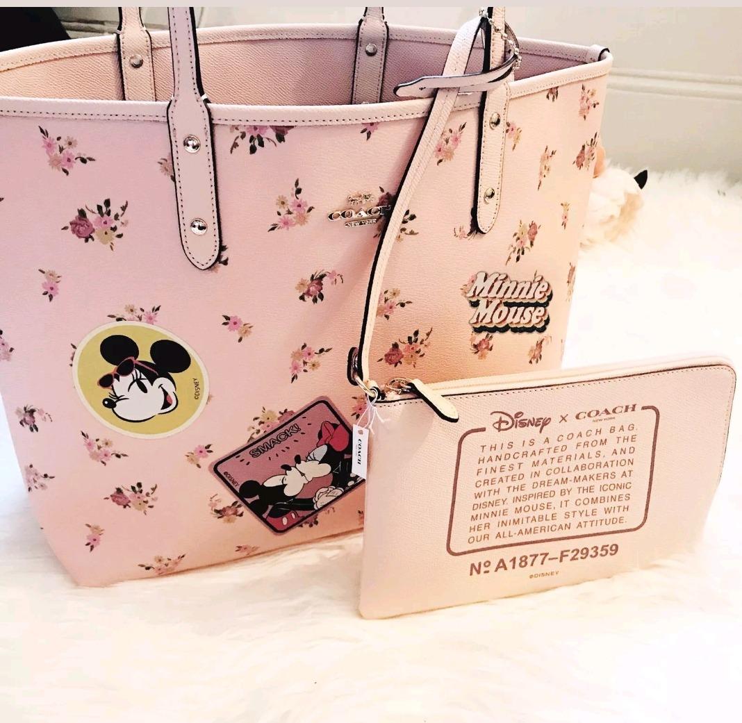 Gratis X Minnie Reversible Mouse Disney Envio Bolsa Coach EI2WHD9