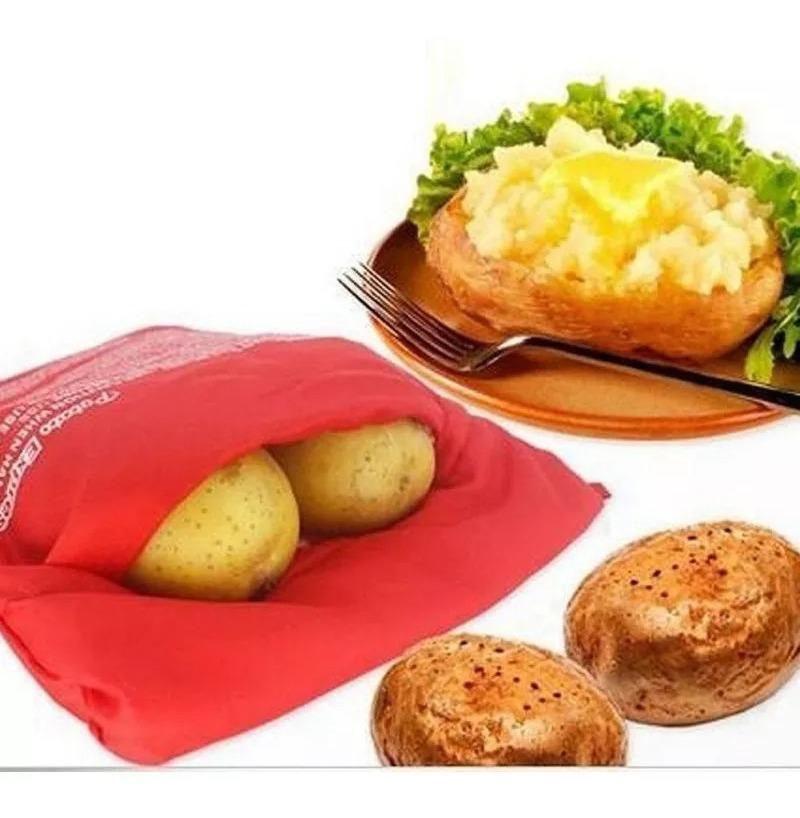 Potato EXPRESS Bolsa De Microondas Cocinar Cocina Reutilizable Lavable