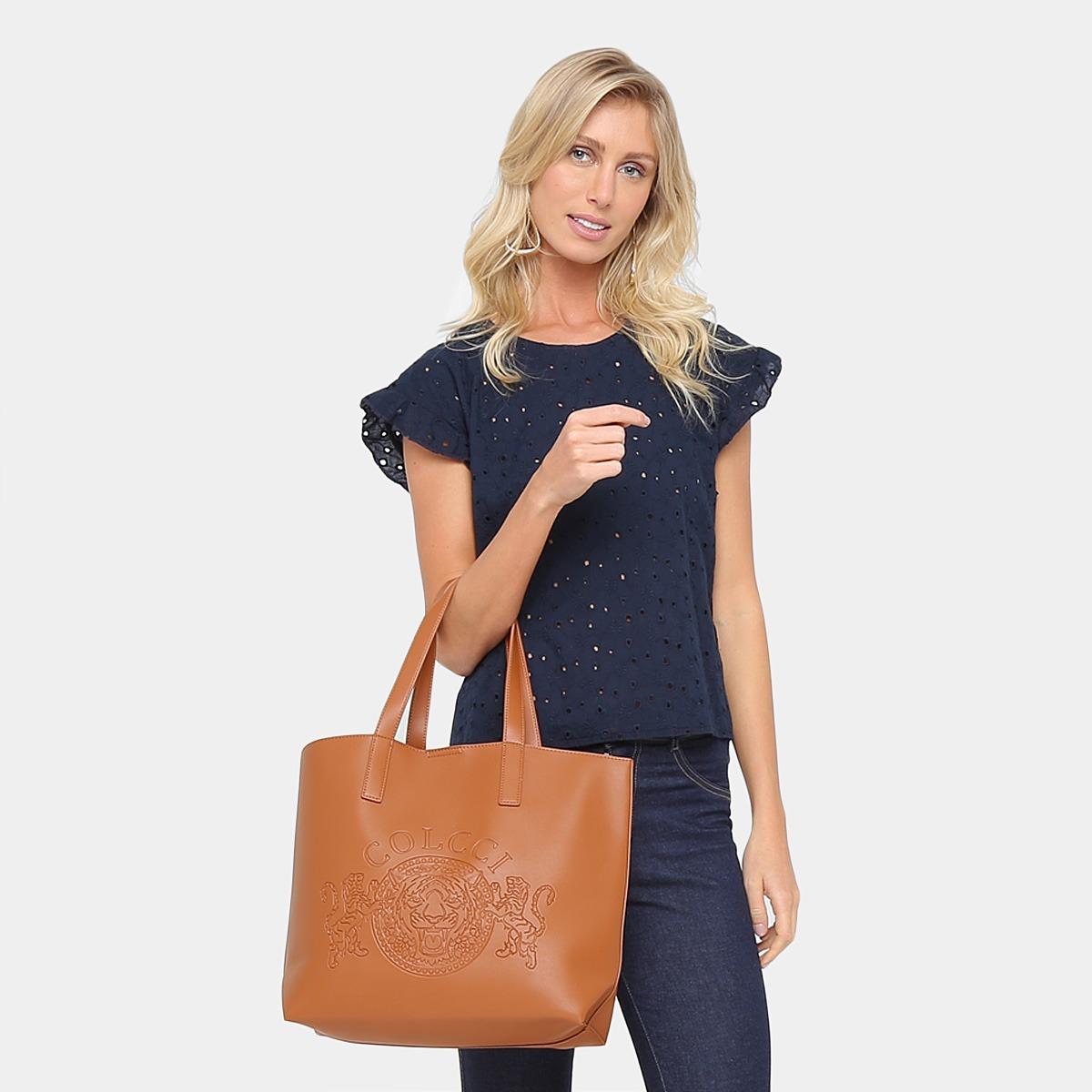 3b7d247d37 Bolsa Colcci Shopper Brasão Feminina - Caramelo - R$ 489,90 em ...