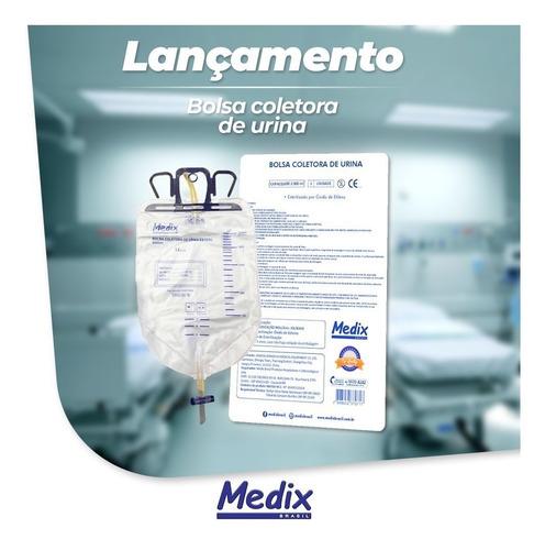 bolsa coletora de urina - 2 litros (kit 30 und) frete grátis