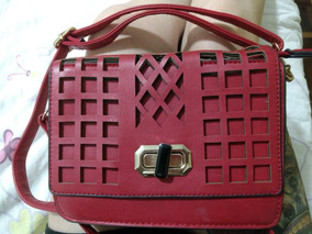 b2d346afd Bolsa Chanel Couro Vermelho Original - Bolsas de Couro Sintético ...