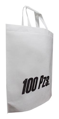 bolsa con asas y base 40x42x14cm sin impresión 100 piezas
