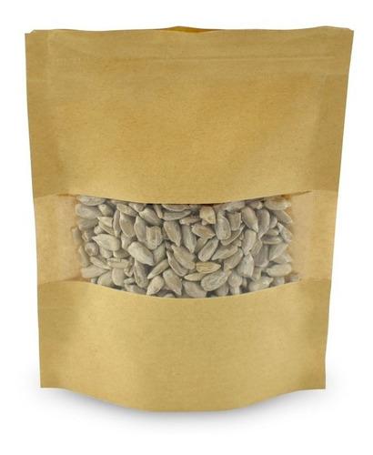 bolsa con visor ecológica color madera 10x15 cm