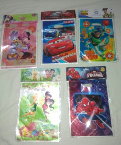 bolsa cotillones x10 disney piñata fiesta infantil variadas