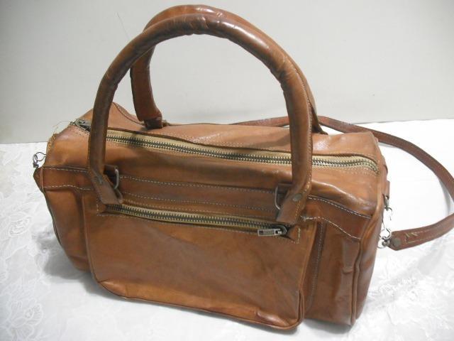 74b96118e Bolsa Couro Antiga Artesanal Usado Conforme Fotos - R$ 39,00 em ...