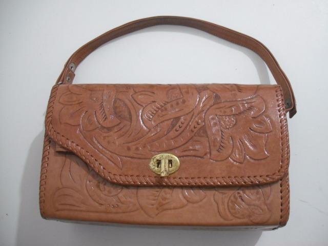 e2b5fa441 Bolsa Couro Artesanal Paraguai Mão 27 X 16 X 10 Cm - R$ 125,00 em ...