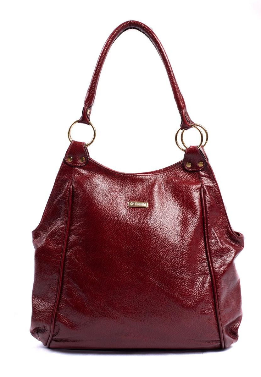 547d190d7 Bolsa Couro Legítimo Feminina Couribi Grande Vermelha - R$ 569,90 em ...