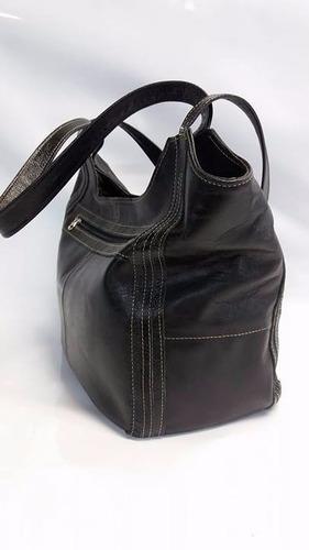 bolsa couro legítimo - natural