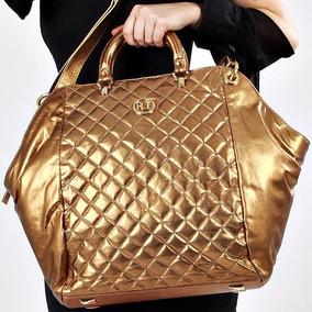 9fdd8593a Bolsas De Couro Bronze - Bolsa Outras Marcas Dourado escuro em São ...