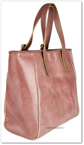 bolsa couro ouro