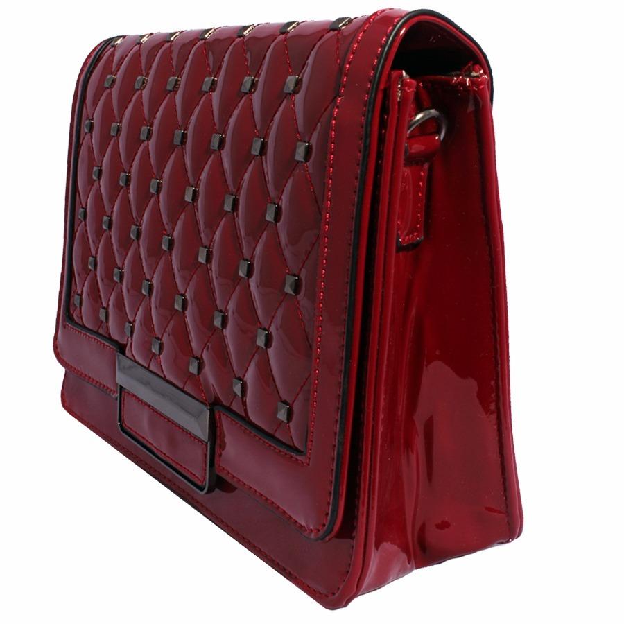 f96200717 bolsa couro quadrada grande tachas alça de corrente clutch. Carregando zoom.