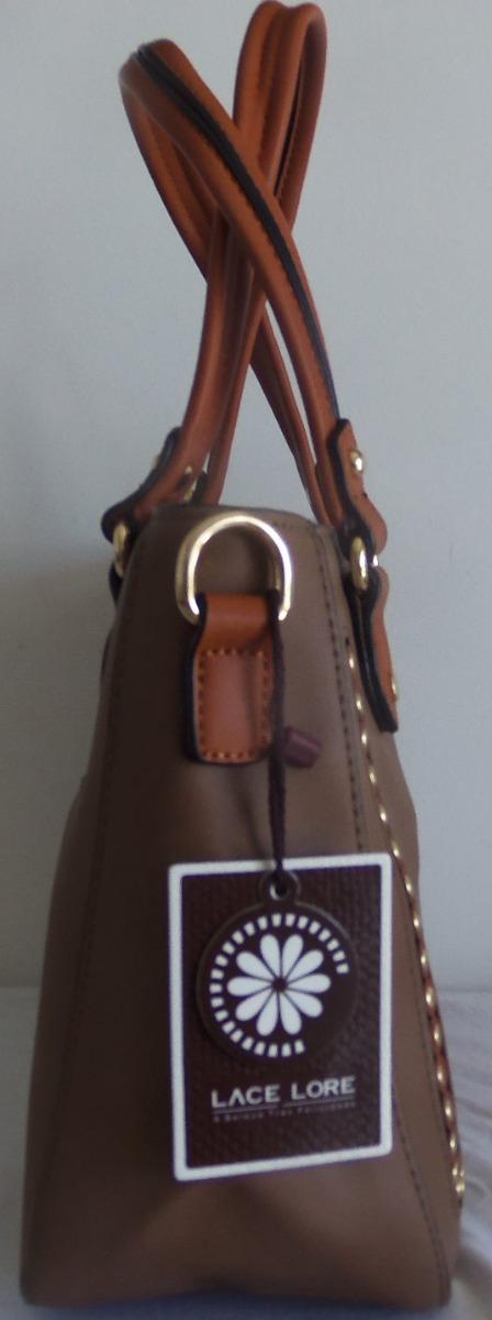 1a59e2a98 Bolsa Lace Lore Ho997 Couro Sintético Com Alça Luxo + Nf - R  97