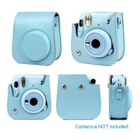 Bolsa Couro Sintético Alça Câmera Instax Mini 11