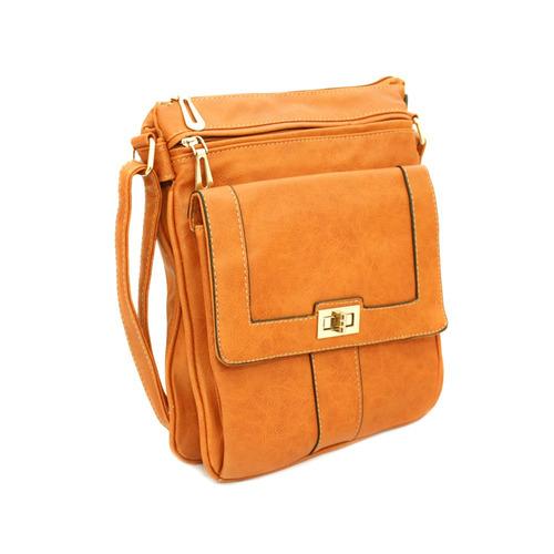 bolsa couro sintético bs3015-15/laranja