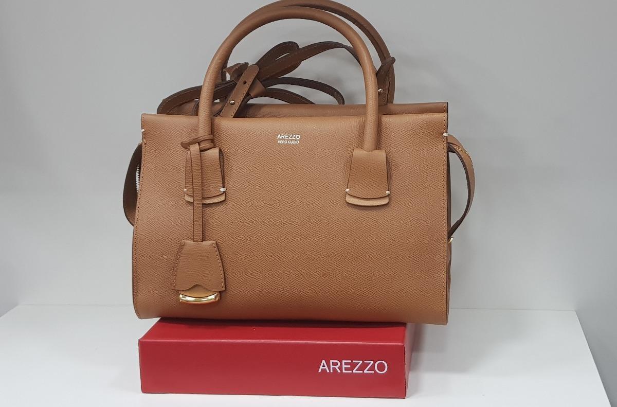 64a5157a6 Bolsa Couro Tote Matilde Média Marroc Arezzo A5001501670001u - R ...