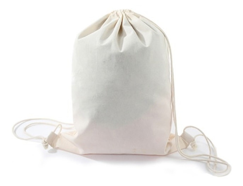 bolsa crea morral biodegradable 35x43cm para estampar / pix