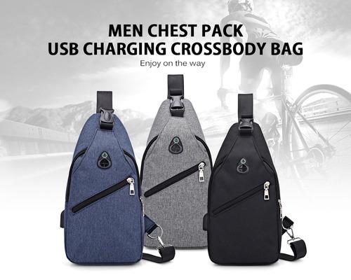 bolsa crossbody masculino carga hombres usb hombres