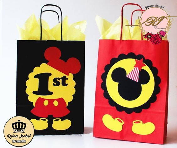 a330a2519 Bolsa Cumpleaños Mickey Minnie Disney Bautismo Candy Bar - $ 30,41 ...