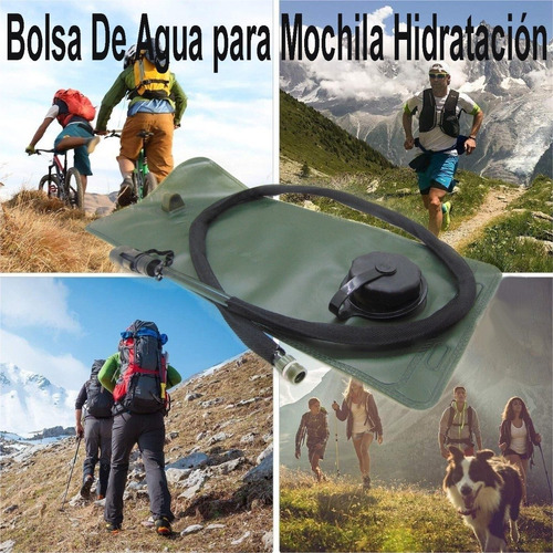 bolsa de agua para mochila hidratación de 18x40cms ciclismo