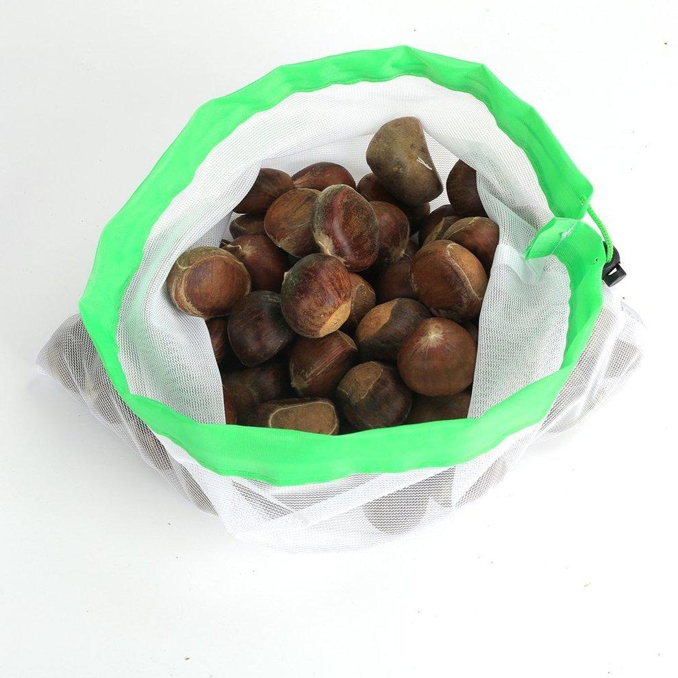 Bolsa De Almacenamiento De Malla De Poliéster Para Frutas Y