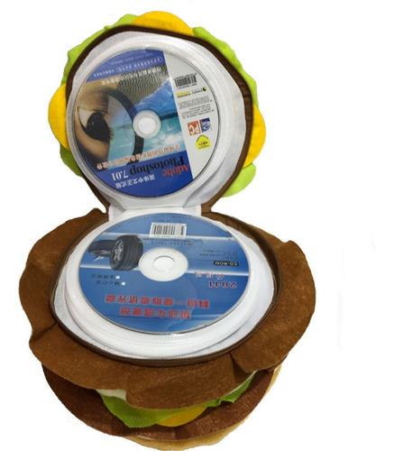 bolsa de almacenamiento portátil doble hamburger128 cd dvd