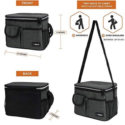 bolsa de almuerzo con correa para el hombro para niños muje