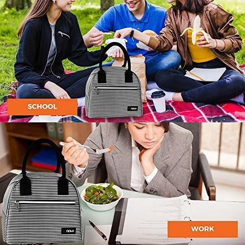 bolsa de almuerzo opux premium para mujeres, con aislamiento