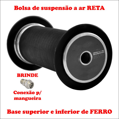 bolsa de ar reta para suspensão a ar traseira  palio weekend