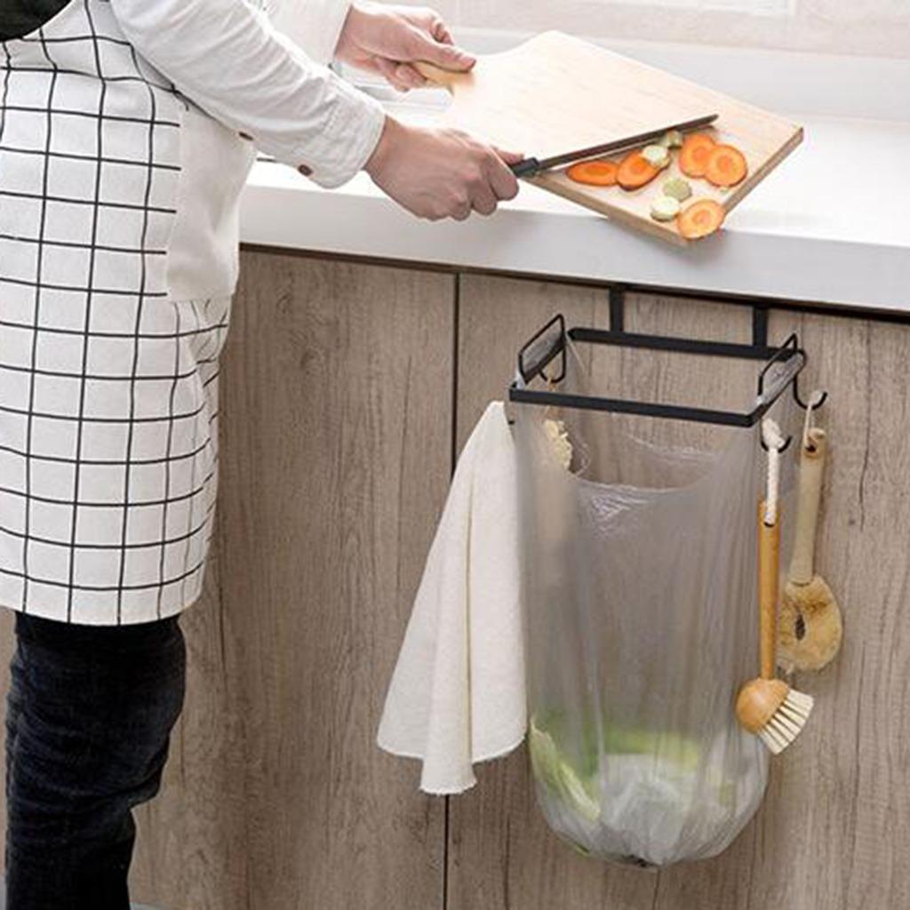Gabinete De Hierro Bastidor De Basura Cocina Bastidor De Basura Bolsa De Pl/ástico Contenedor De Basura Soporte De Almacenamiento