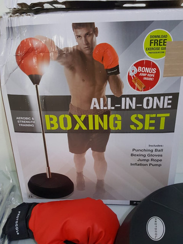 bolsa de boxeo artes marcial y guantes   punching ball