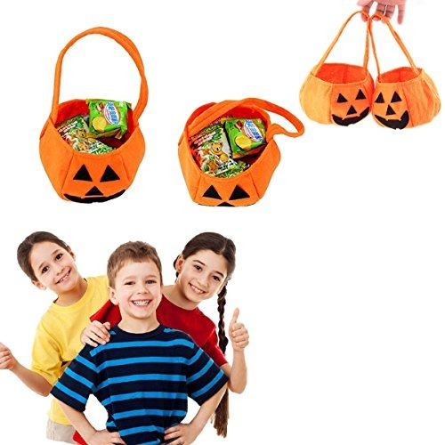 Kids Candy Bag Gift Sacks for Halloween Party Costumes RASTPOAL Halloween Pumpkin Bag