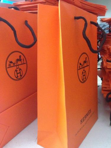 bolsa de cartón hermes  precio x 10 unidades