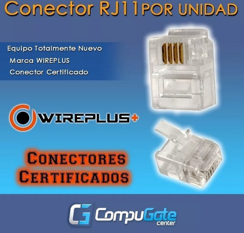 bolsa de conectores rj11 100 unidades alta calidad conector